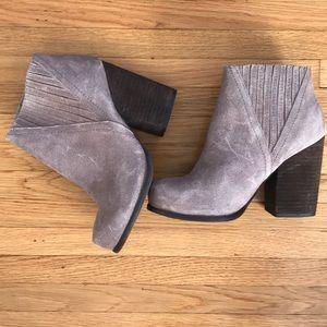 Suede Jeffrey Campbell heeled booties 8.5
